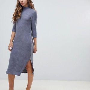 ASOS high neck midi dress